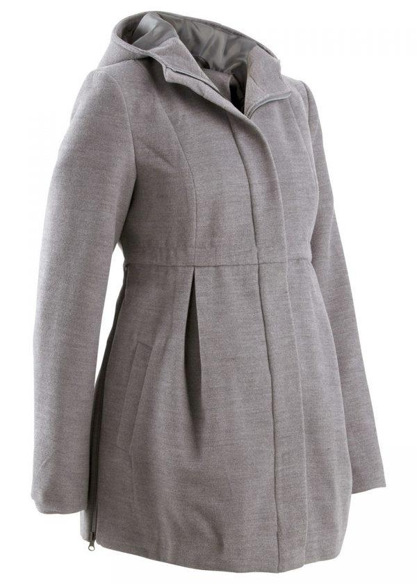 242dfe00068b Tehotenský kabát s kapucňou