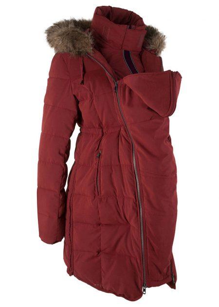 Zimná bunda na nosenie bábätka