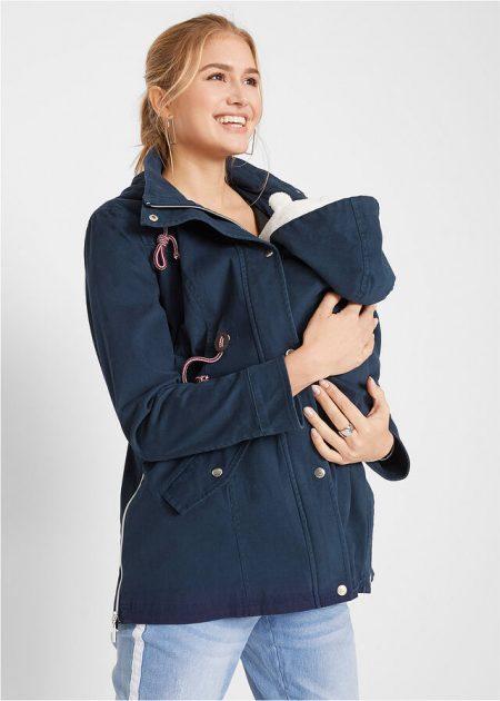 Tehotenská prechodná bunda so vsadkou pre babatko