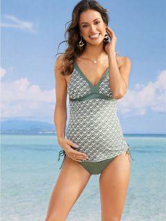 tehotenské dvojdielne plavky tankiny