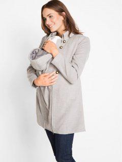 Tehotenský kabát na nosenie 2v1
